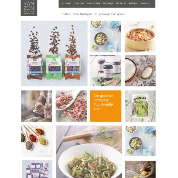 Van Zon Fresh Foods Website & Identiteit